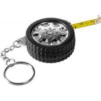 """1 Meter Schlüsselanhänger mit Reifen-Motiv ,,Monstertruck"""" in Schwarz-Silber Werbeartikel"""