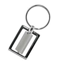 "Anspruchsvoller Metall-Schlüsselanhänger ,,Artifact"" in Silber Werbeartikel"