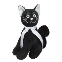 """Dunkles Katzen-Maskottchen ,,Mauz"""" Werbeartikel"""