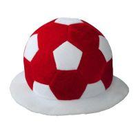 "Fußball-Hut ,,Footy"" in Rot-Weiß Werbeartikel"