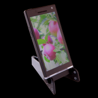 """Halter für Tablet/Handy ,,Test"""" in Grau Werbeartikel"""