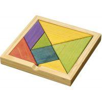 """Herausforderndes Tangram-Puzzle ,,Richard"""" in Braun Werbeartikel"""