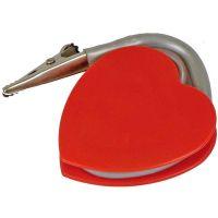 """Herzförmiger Memo-Clip ,,Kapoor"""" in Rot Werbeartikel"""
