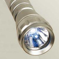 """LED-Taschenlampe ,,Hämatit"""" in Silber"""