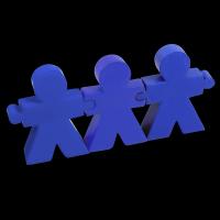 """Interaktives Anti-Stress-Kit ,,Baumeister"""" in 3 Farben"""