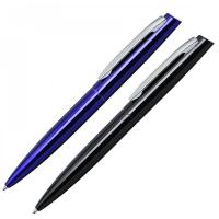 """Kugelschreiber ,,Bender"""" aus Aluminium Blau und Schwarz Werbeartikel"""