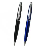 """Kugelschreiber ,,Wyatt"""" aus Aluminium in Schwarz und Blau Werbeartikel"""