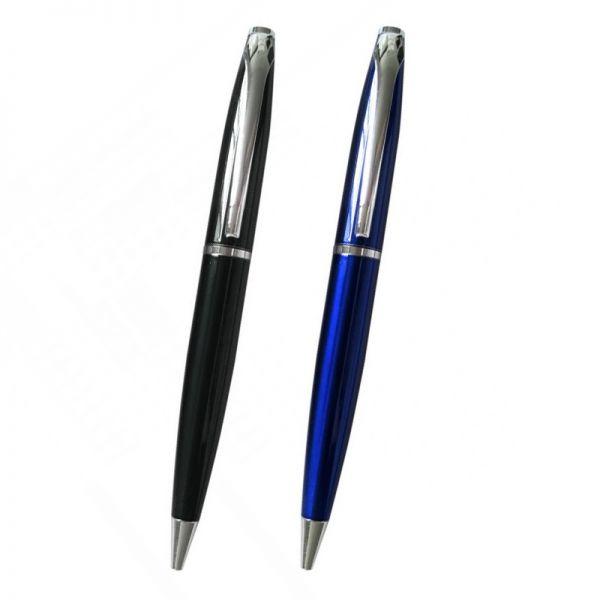 kugelschreiber wyatt aus aluminium in schwarz und blau. Black Bedroom Furniture Sets. Home Design Ideas