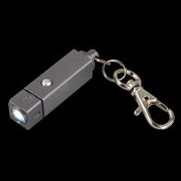 """LED-Schlüsselanhänger ,,Sugilith"""" in Grafit Werbeartikel"""