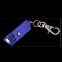 "LED-Schlüsselanhänger ,,Tumalin"" in Blau Werbeartikel"