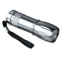 "LED-Taschenlampe ,,Diamant"" in Silber Werbeartikel"