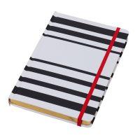 Notizbuch 145x210 mm schwarz-weiß  Werbeartikel