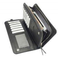 Portemonnaie aus PU-Leder in der Farbe Schwarz Werbeartikel