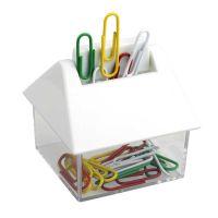 """Praktischer Büroklammern-Behälter ,,Ericson"""" in Weiß Werbeartikel"""