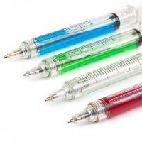 "Witziger Kugelschreiber ""Bob, die Spritze"" aus Kunststoff in 4 Farben Werbeartikel"